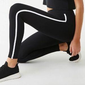 Active Striped-Trim Leggings